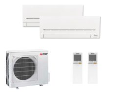 Multi Split Air Conditioner Mitsubishi Electric MSZ-AP25VG-K + MSZ-AP50VG-K + MXZ-3F68VF